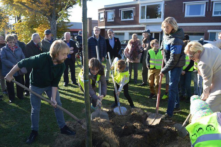 Leerlingen van alle Zelzaatse school plantten samen een Vredesboom.