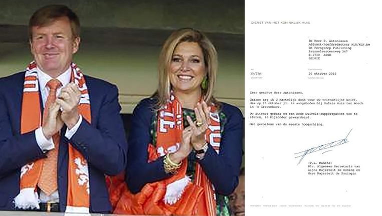 Juichen Koning Willem-Alexander en Koningin Maxima onze Rode Duivels binnenkort toe met rode sjaals?