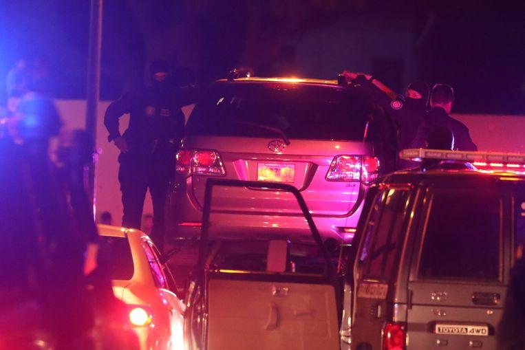 De arrestatie van Edgar Zambrano woensdagavond. Beeld EPA