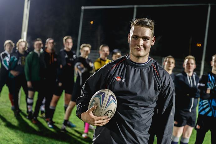 """Douwe Meulenbeld uit Oudenbosch is geselecteerd voor het Jong Oranje-rugbyteam. ,,Ik houd van de mentaliteit."""""""