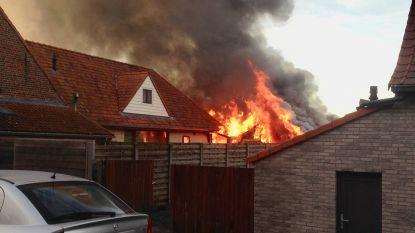 Huis onbewoonbaar na grote brand in garage