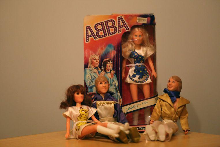 Een pronkstuk uit haar verzameling: ABBA-poppen.