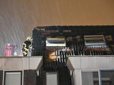 Ravage aan woning door blikseminslag in Tilburg