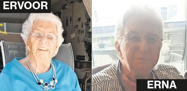 De vrouw van Wim De Grundt, voor en na de lockdown.
