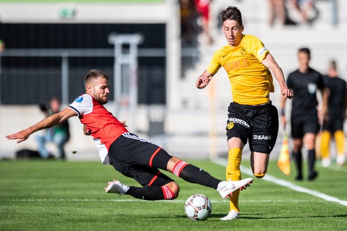 Bart Nieuwkoop (links) lijkt donderdag in de basis te starten tijdens het eerste Europa League-duel van Feyenoord.