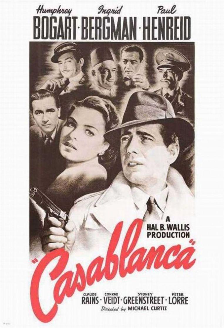 Filmposter van Casablanca Beeld