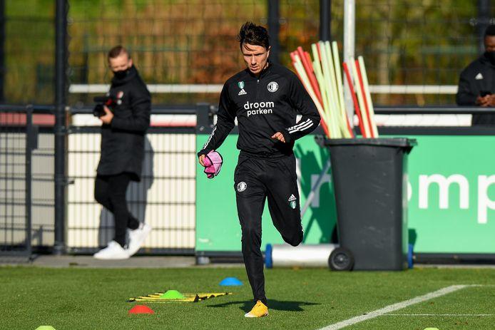 Steven Berghuis tijdens de training van woensdag.