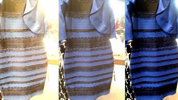 49053a877cf390 Strijd om jurk  witgoud of zwartblauw