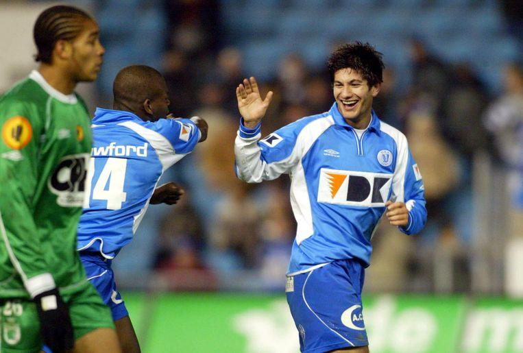 Miljan Mrdakovic tijdens zijn periode bij AA Gent.