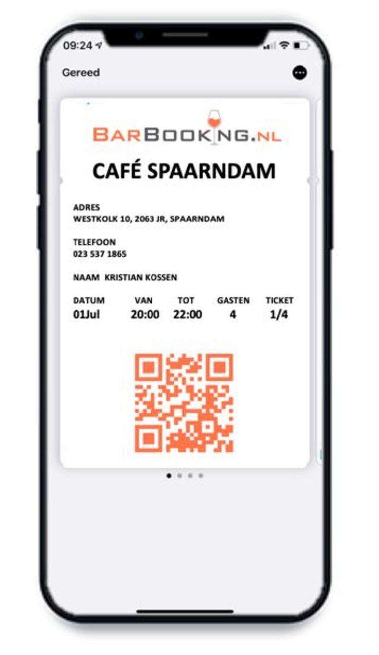 De app van Barbooking. Beeld Barbooking