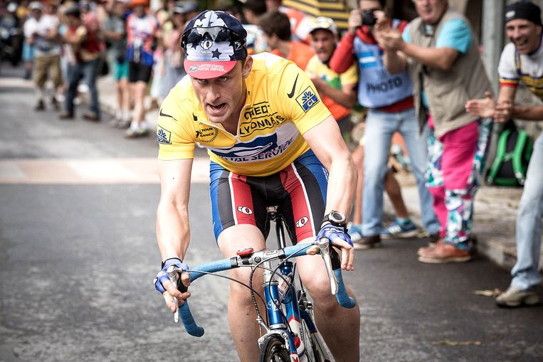 Ben Foster als Lance Armstrong in Icon (Stephen Frears, 2015). Beeld