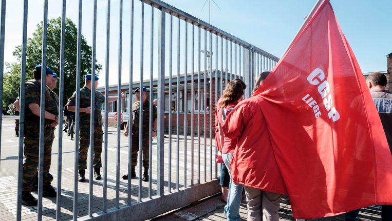 vakbondsactie in Lantin vorige week