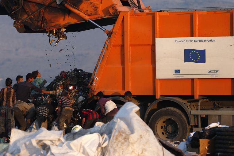 Afvalverwerking in Montenegro. Beeld ap