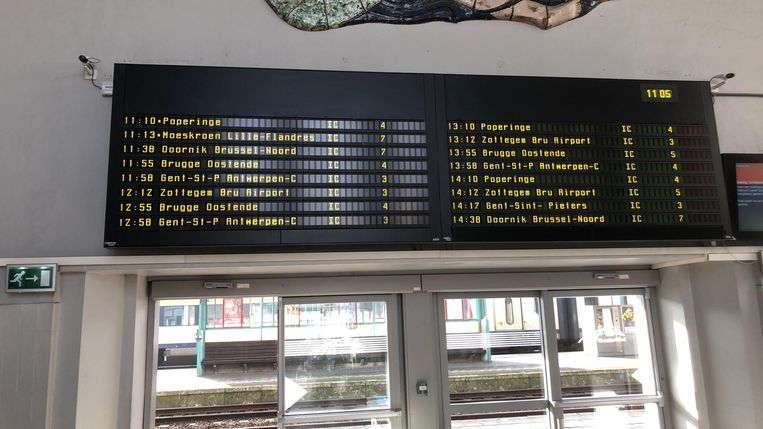 De treinen rijden normaal, in Kortrijk