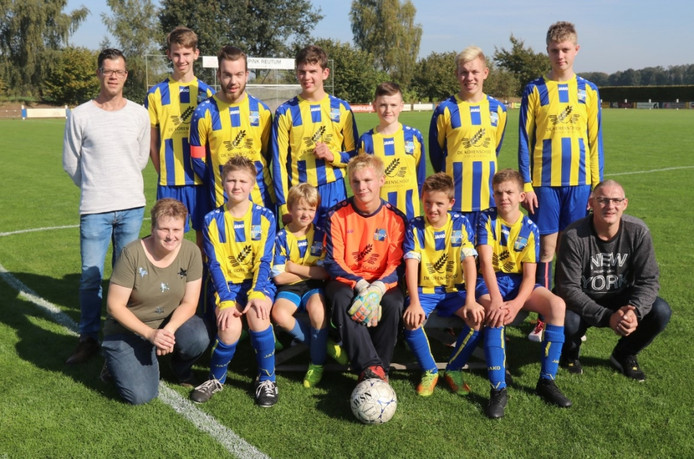 Het G-team van voetbalvereniging Reutum.