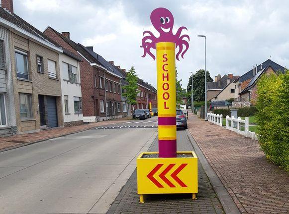 Onder meer in de Driehoekstraat zijn er al octopussen geplaatst.