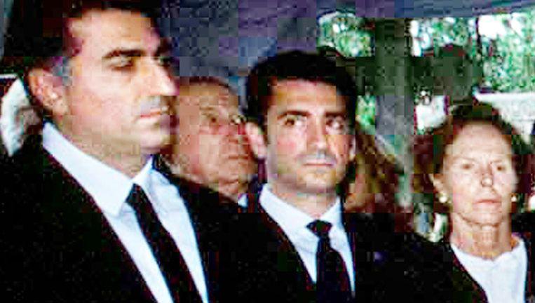Reza Pahlavi (links) Beeld afp