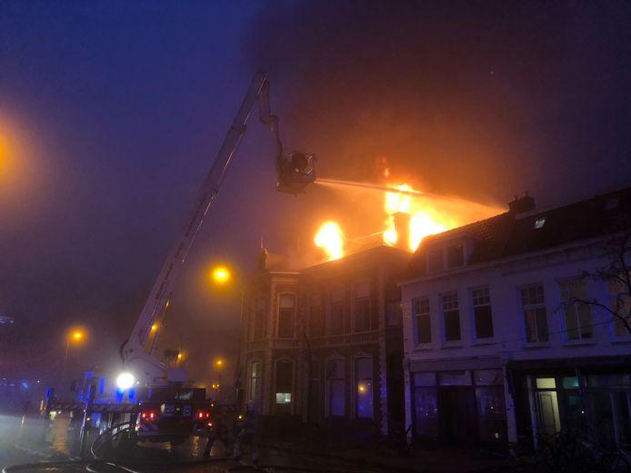 De brand aan de Diezerkade in Zwolle.
