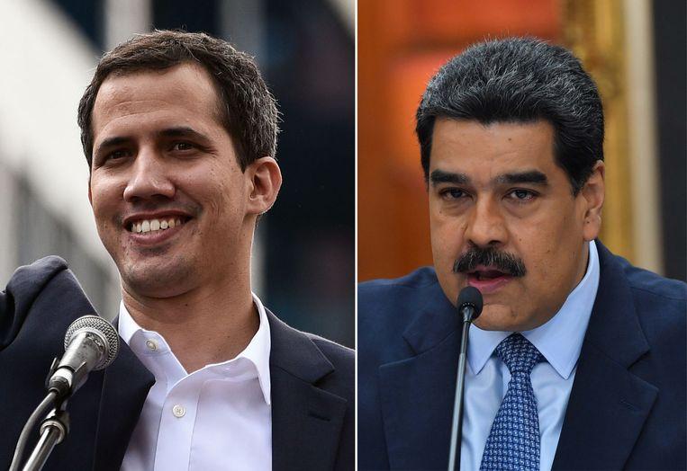 Juan Guaido en Nicolas Maduro.
