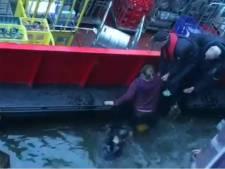 Verwarde man springt in Oudegracht uit vijf meter hoog raam