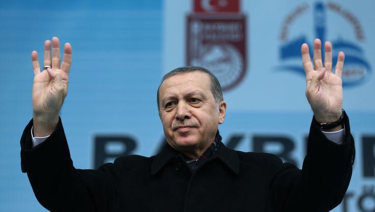 De Turkse president Erdogan. Beeld ap