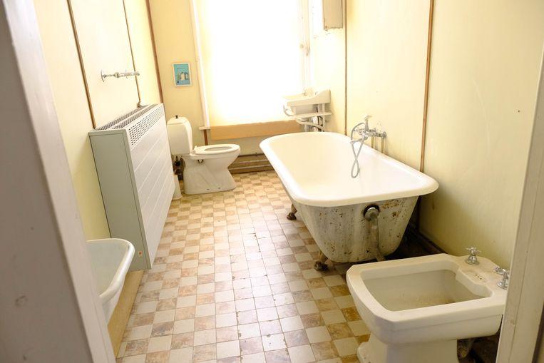 Het kasteel telt ook enkele badkamers