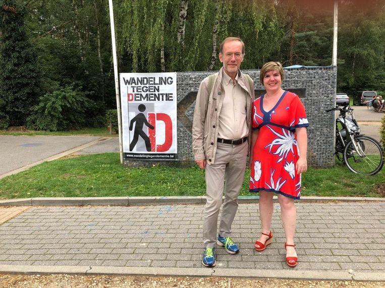 Professor Rik Vandenberghe en initiatiefneemster Fabienne Scheepers.