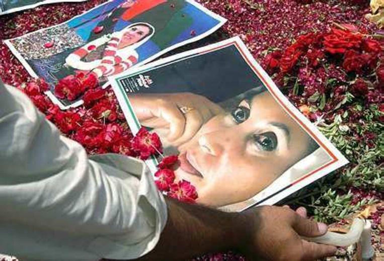 Pakistan herdenkt Bhutto op haar geboortedag Foto EPA/T. Mughal Beeld