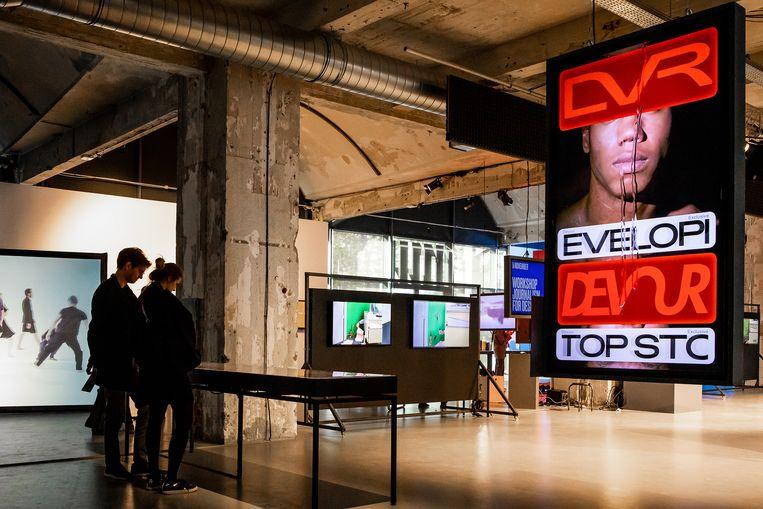 Beelden van de expositie The New Newsroom in het MU.  Beeld MU