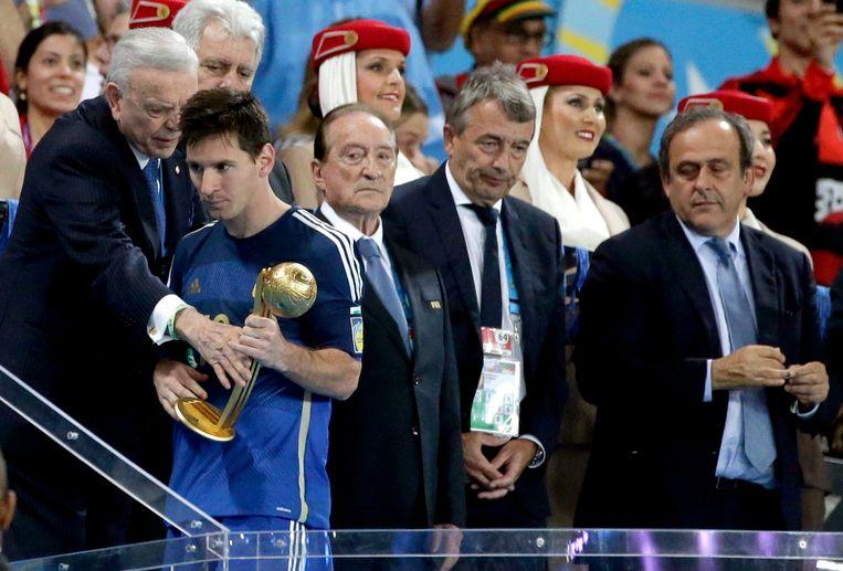Messi werd op het voorbije WK ook verkozen tot beste speler