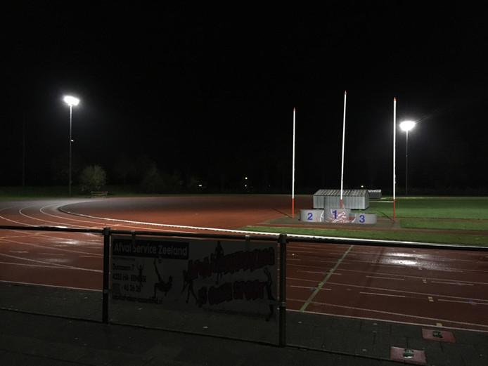 De atletiekbaan van AV'56 in Goes