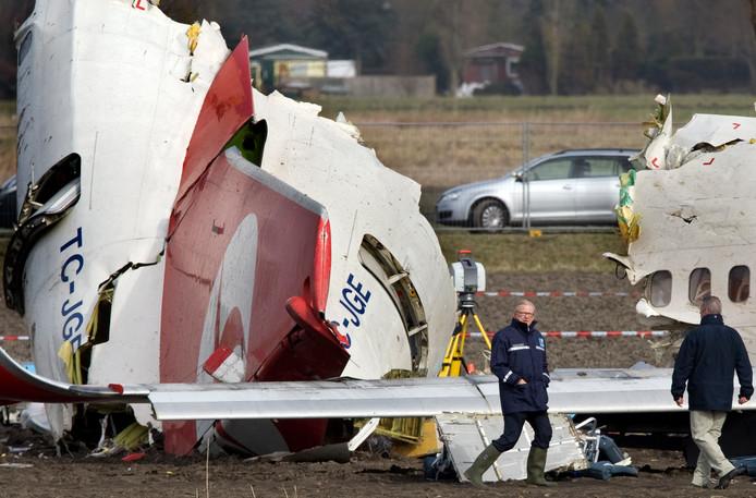 Het neergestorte vliegtuig