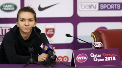 Halep geeft na zege in kwartfinales forfait, Muguruza wordt eerste finaliste in Doha