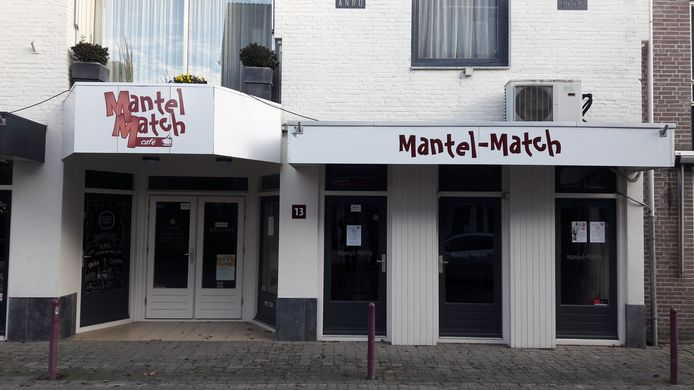 Het Mantel-Match Café aan de Peperstraat in Kaatsheuvel.
