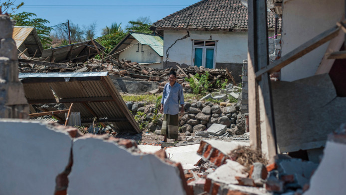 Photo du tremblement de terre sur l'île de Lombok le 6 août dernier.