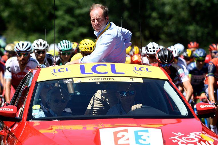 Christian Prudhomme is als koersdirecteur elke zomer het gezicht van de Tourorganisatie. Beeld Belga