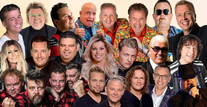 De artiesten van het Mega Piraten Festijn.