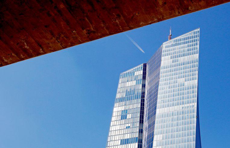 Het hoofdkwartier van de Europese Centrale Bank in Frankfurt.