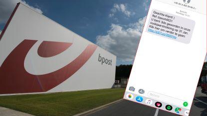 Opgelet: open dit berichtje van 'bpost' niet