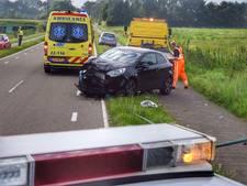 Automobiliste rijdt lantaarnpaal uit de grond in Eersel