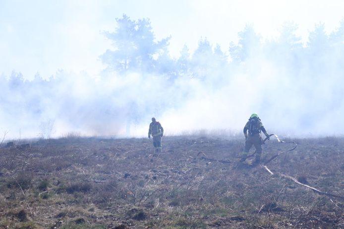 een flink stuk heide bij Rozendaal stond zondagmiddag in brand.