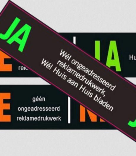 Vanaf 2022 ja/ja-sticker als je in Hengelo nog reclamefolders wilt ontvangen