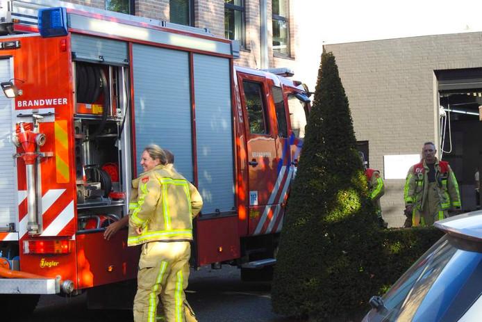 Brand bij Strijbos Graphic Group in Waalre.