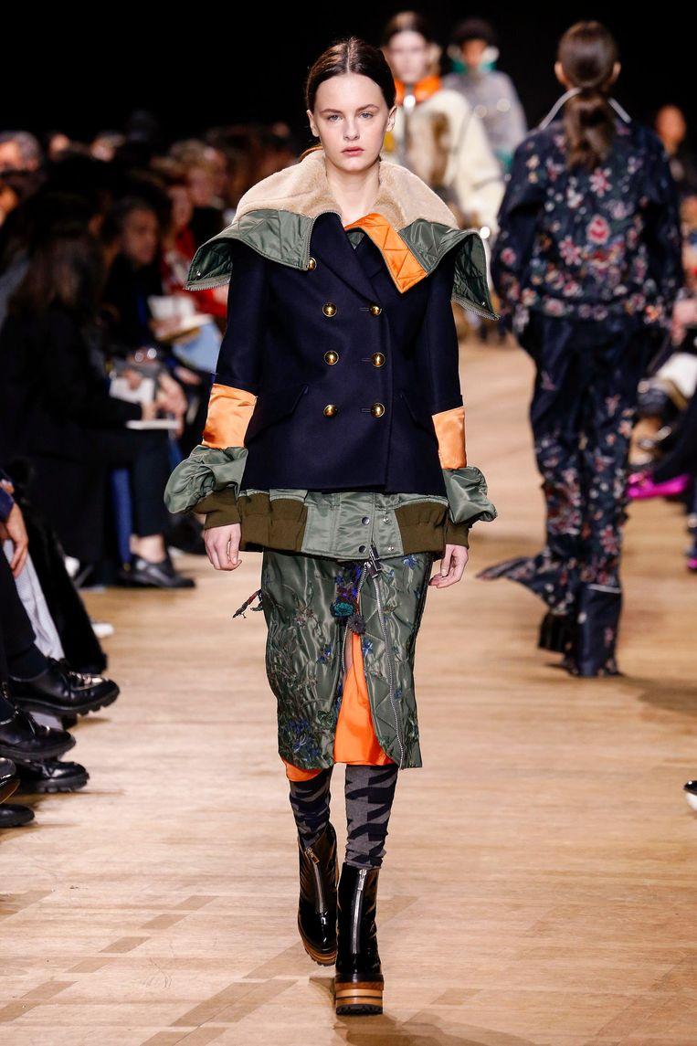 Hét grote nieuwe Japanse modemerk in Europa is Sacal, van ontwerpster Chitose Abe. Beeld null