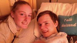 Praten kon hij niet meer. Toch zat Silke (18) twee jaar lang aan zijn ziekbed na ongeval