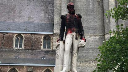 """Omstreden beeld van Leopold II voor derde keer in korte tijd gevandaliseerd: """"Daders gaan steeds driester te werk"""""""