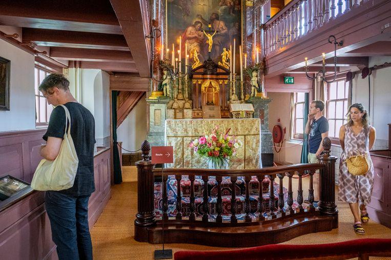 Het Amsterdamse museum Ons' Lieve Heer op Solder wordt met acute sluiting bedreigd. Reden: het wegvallen van subsidie en het teruglopende aantal bezoekers. Beeld Hollandse Hoogte / Patrick Post