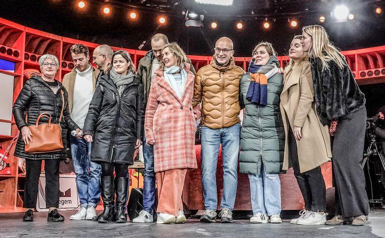 Vrienden en familie van Ibe Horatschek uit De Pinte.