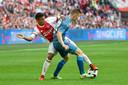Baas - hier nog speler van Heracles - wil terug naar de eredivisie en weer tegen ploegen als Ajax spelen.