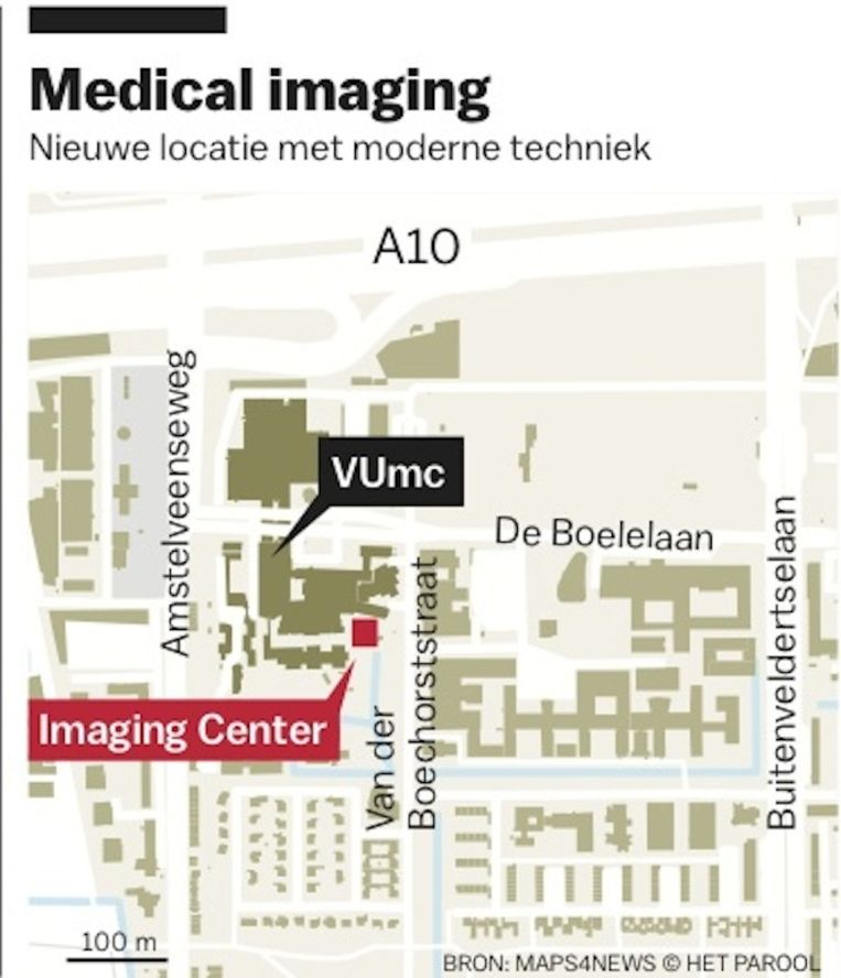 In maart begint de bouw van het nieuwe Medical Imaging Center Beeld Het Parool